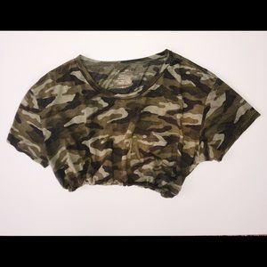 Camo cinch waist croptop
